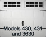 Residential Garage Door Models 430 431 3630